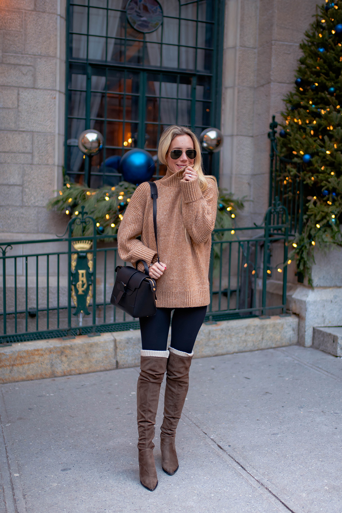 Brown Turtleneck Sweater