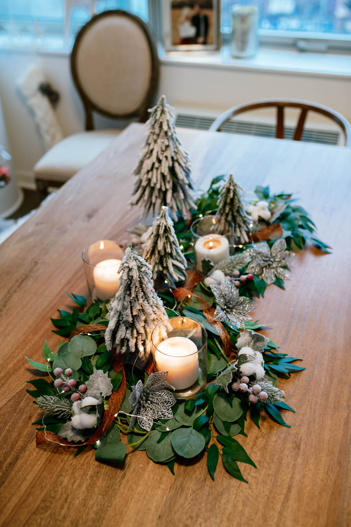 Diy Holiday Greenery Table Runner Katie S Bliss