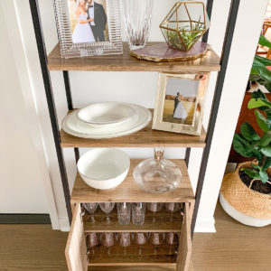 Entryway Bookcase Decor and Organization