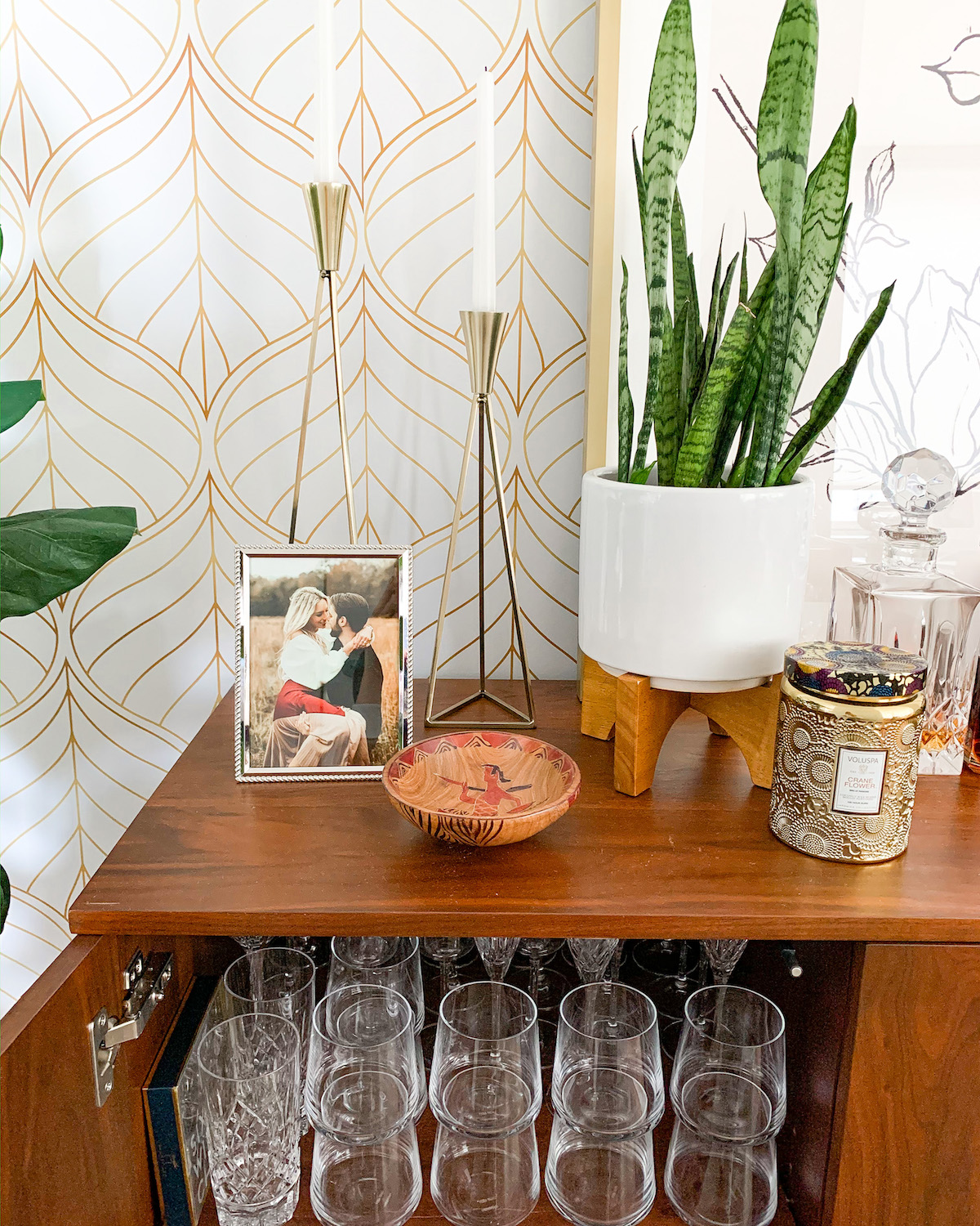 Formal Glassware Storage and Organization
