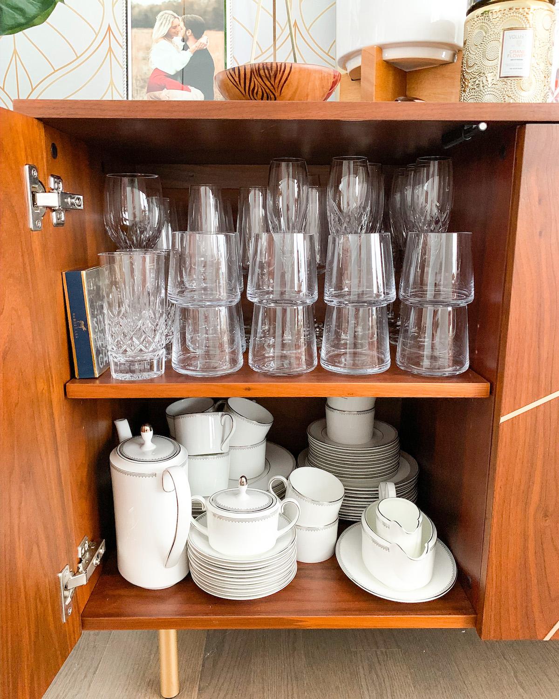 Formal Glassware Storage and Organization