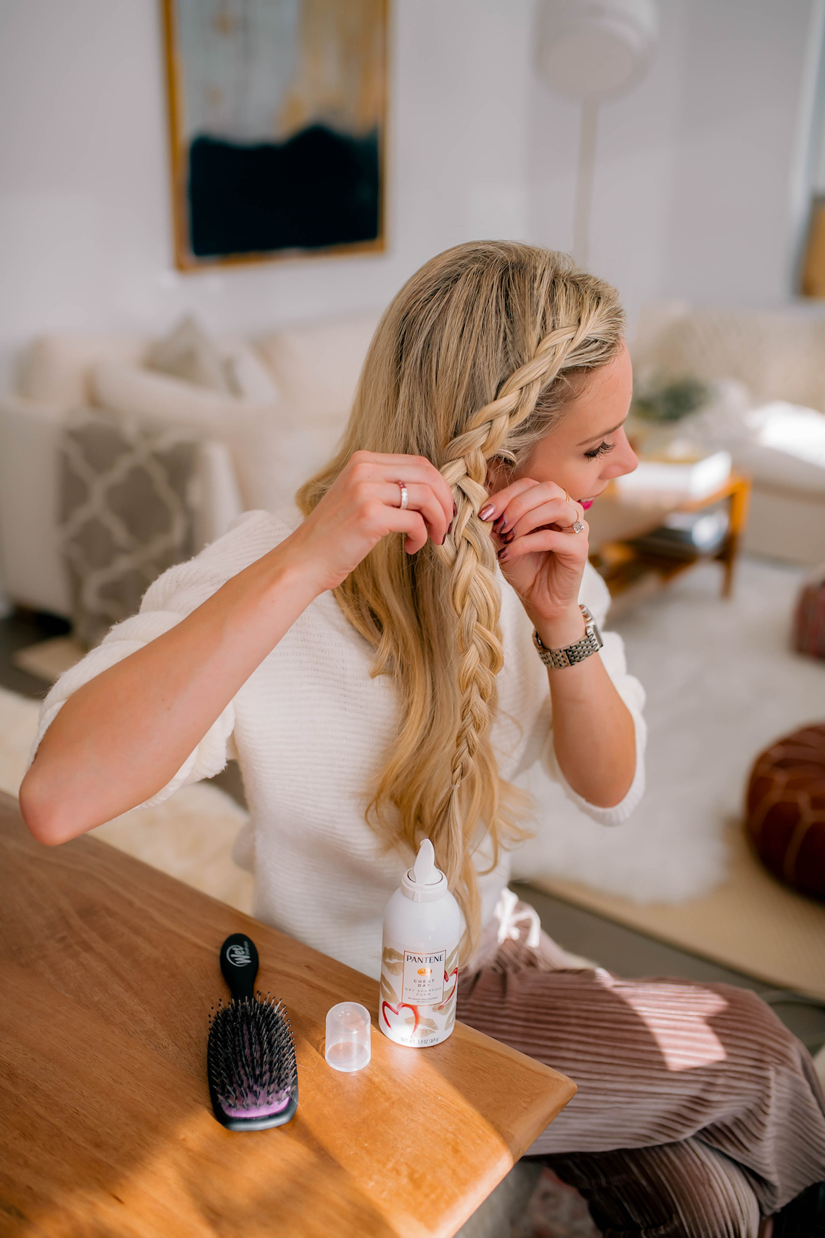 Katies Bliss Side Braid Tutorial