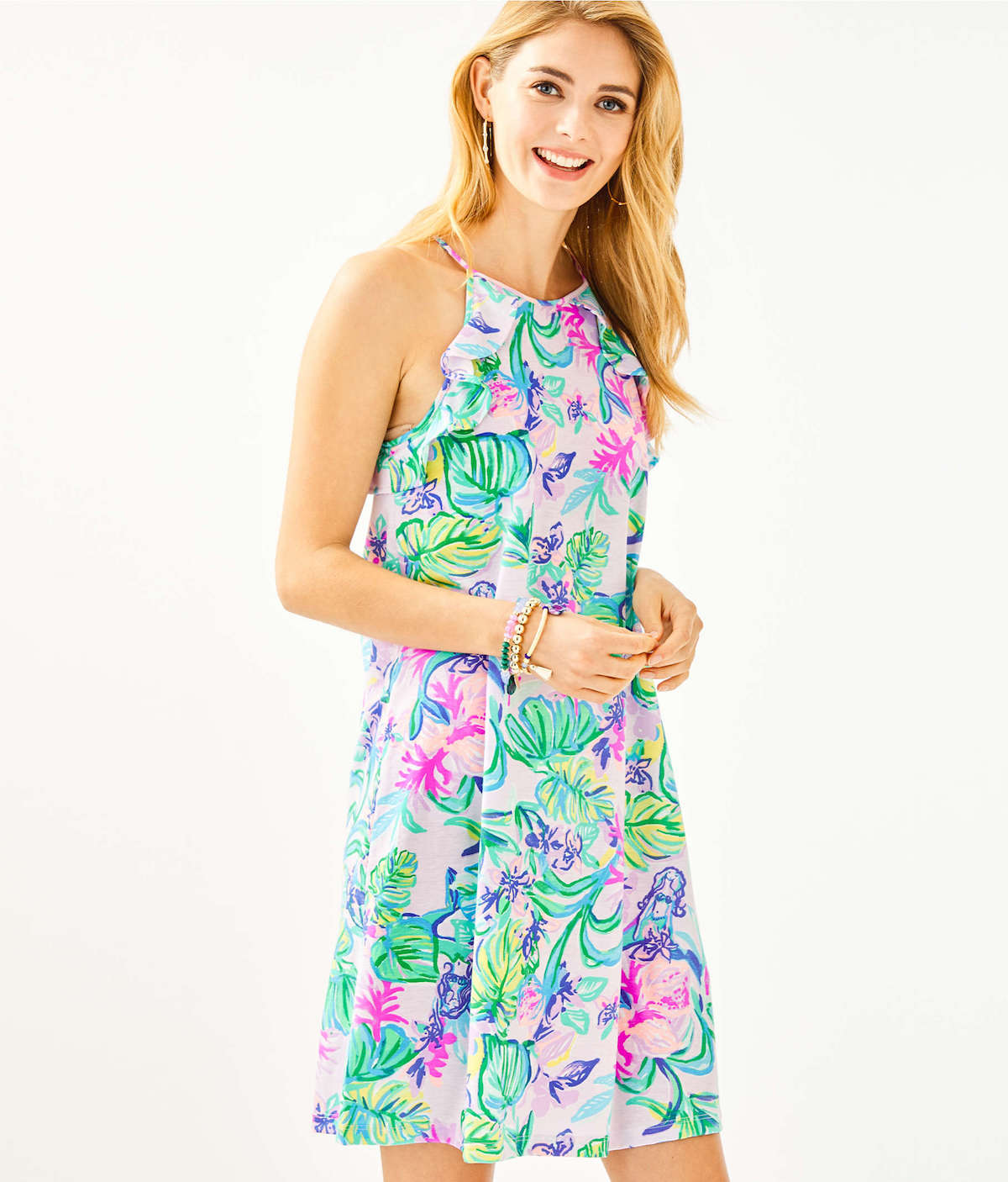 Lilly Pulitzer Billie Ruffle DressLilly Pulitzer Marlowe Boatneck T-Shirt Dress