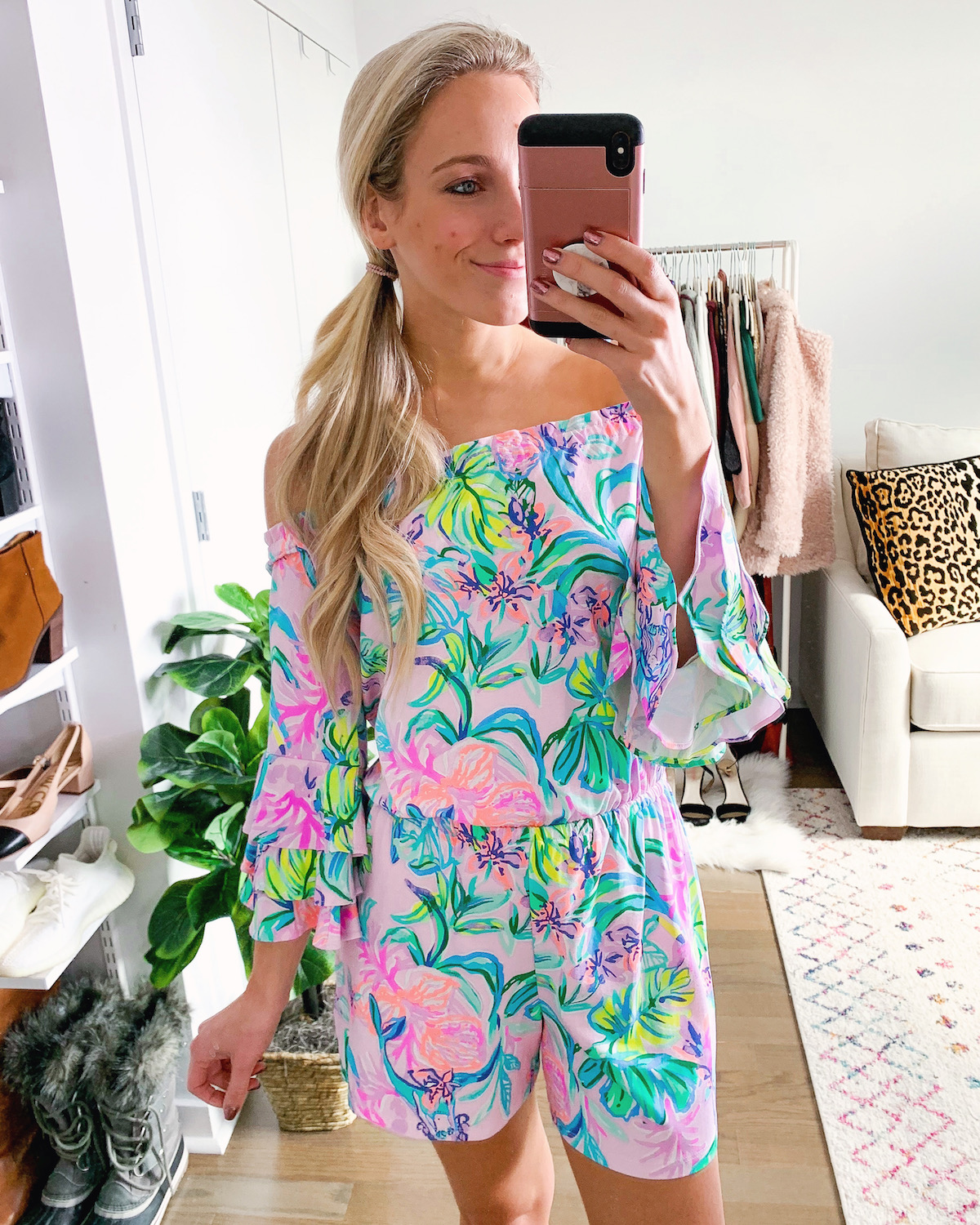 Lilly Pulitzer Calla Off-The-Shoulder Romper