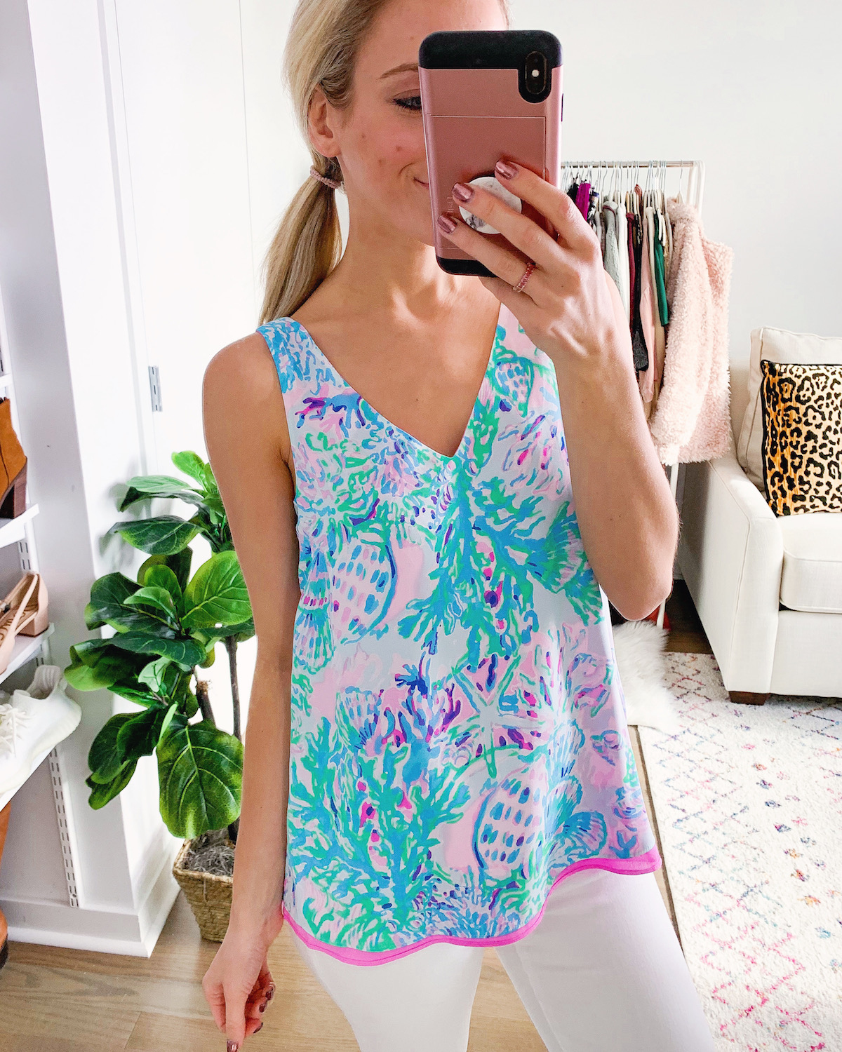 Lilly Pulitzer Florin Reversible Tank Top