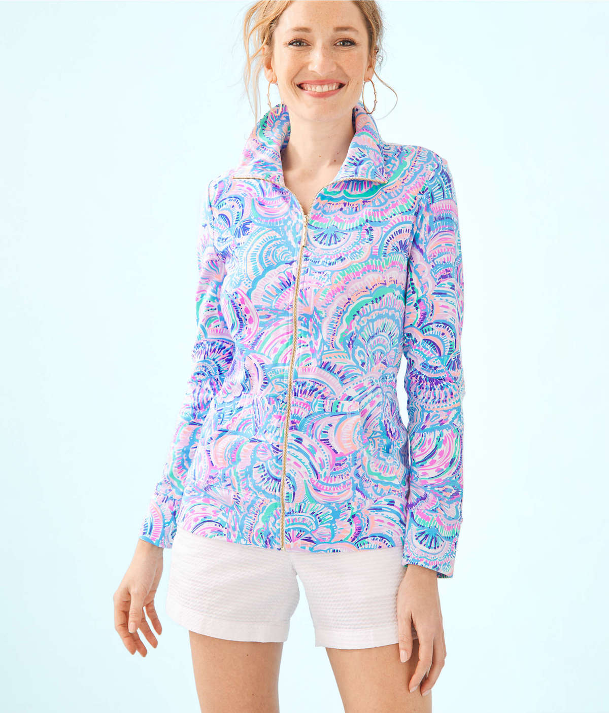 Lilly Pulitzer UPF 50+ Leona Zip-Up
