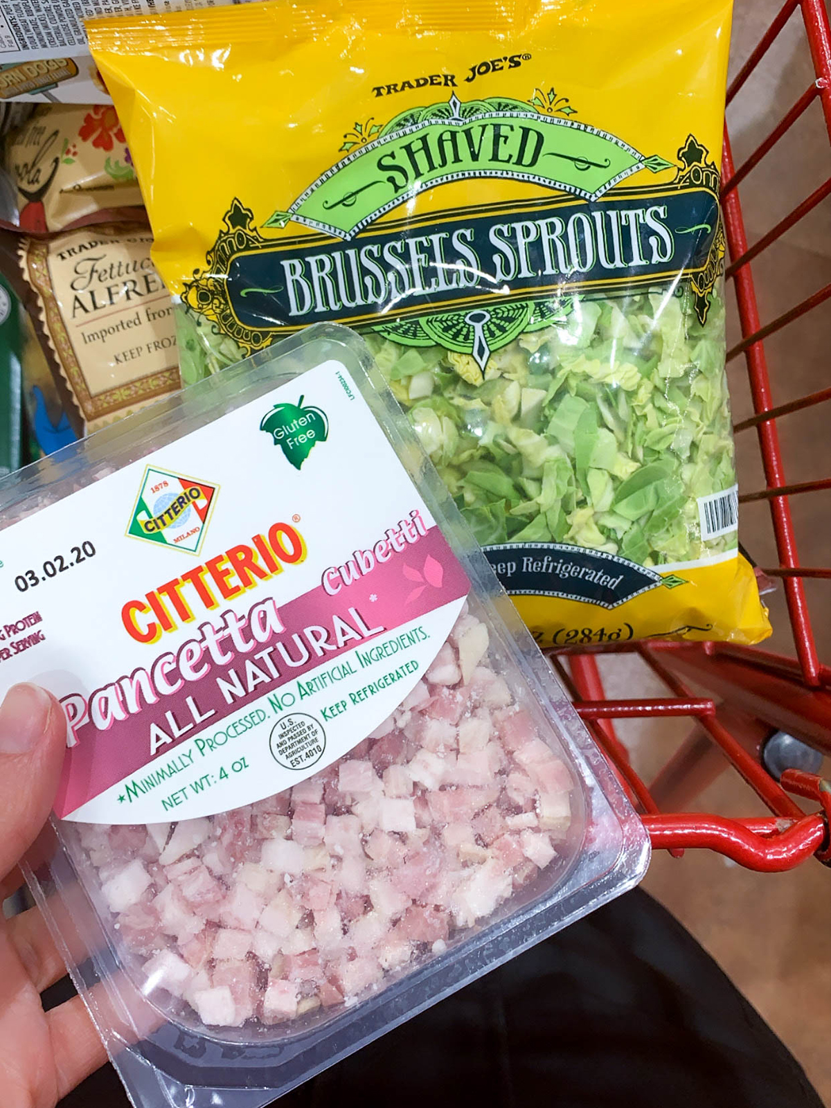Trader Joes Brussels and Pancetta