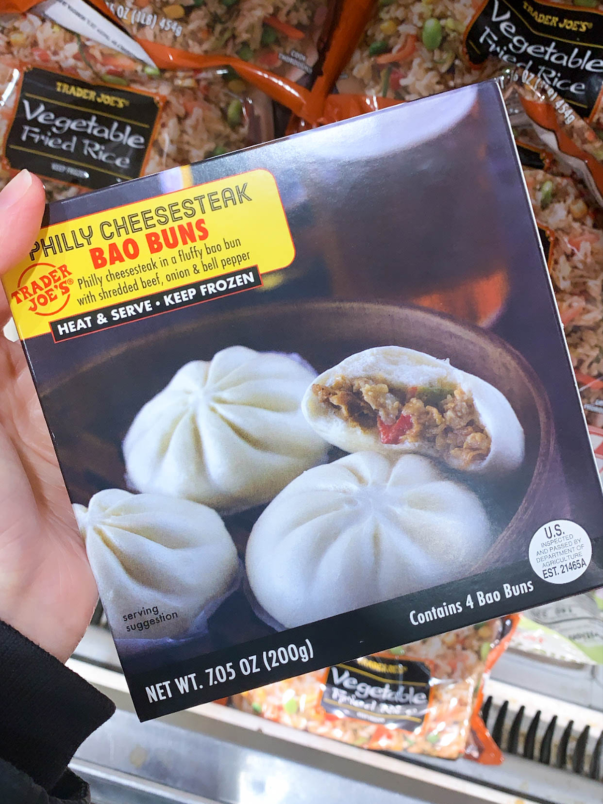 Trader Joes Philly Cheesesteak Bao Buns