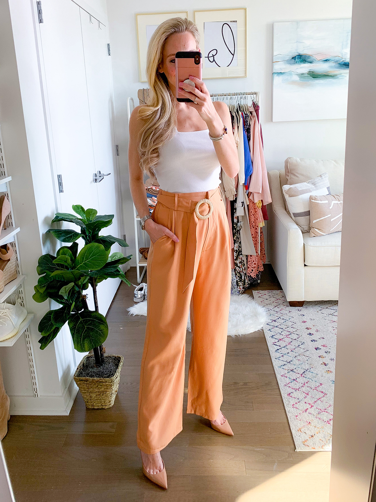 Anthropologie Belted Pants