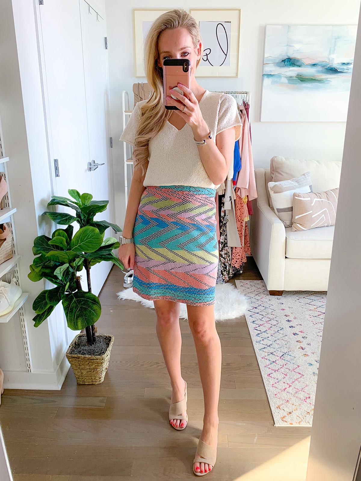 Anthropologie Knit Mini Skirt