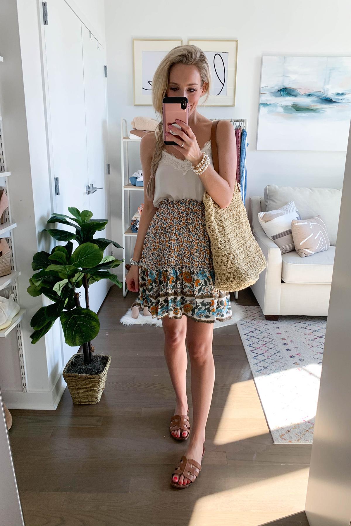 Boho Mini Skirt