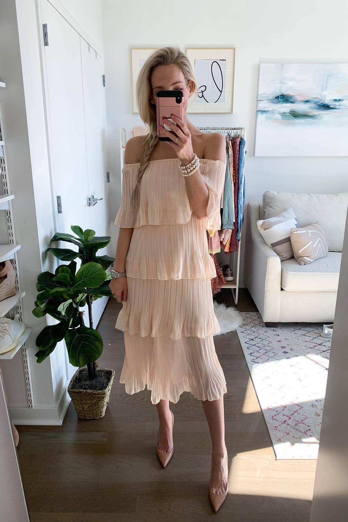 Layered Ruffle Midi Dress