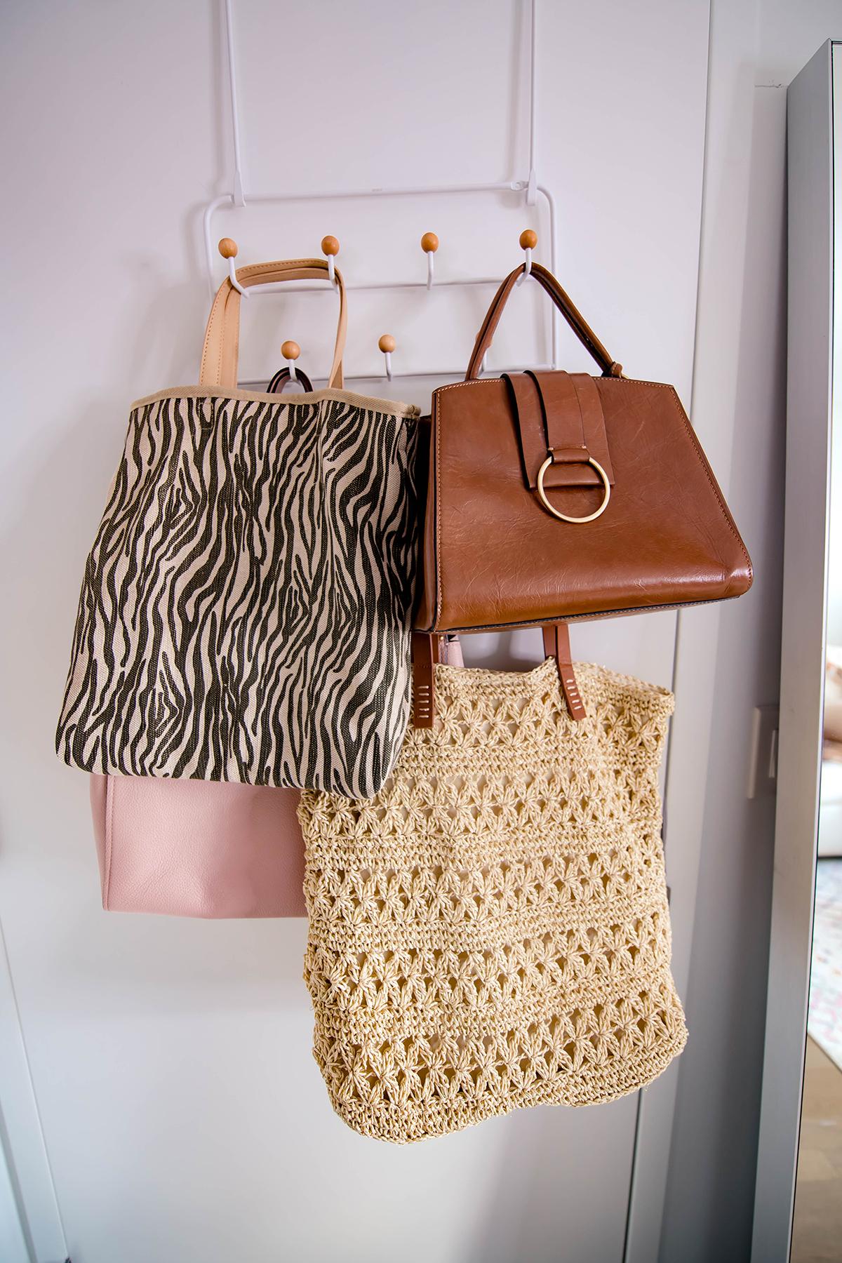 Over The Door Handbag Storage