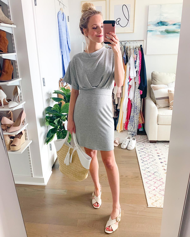 Cinched Waist T-Shirt Dress
