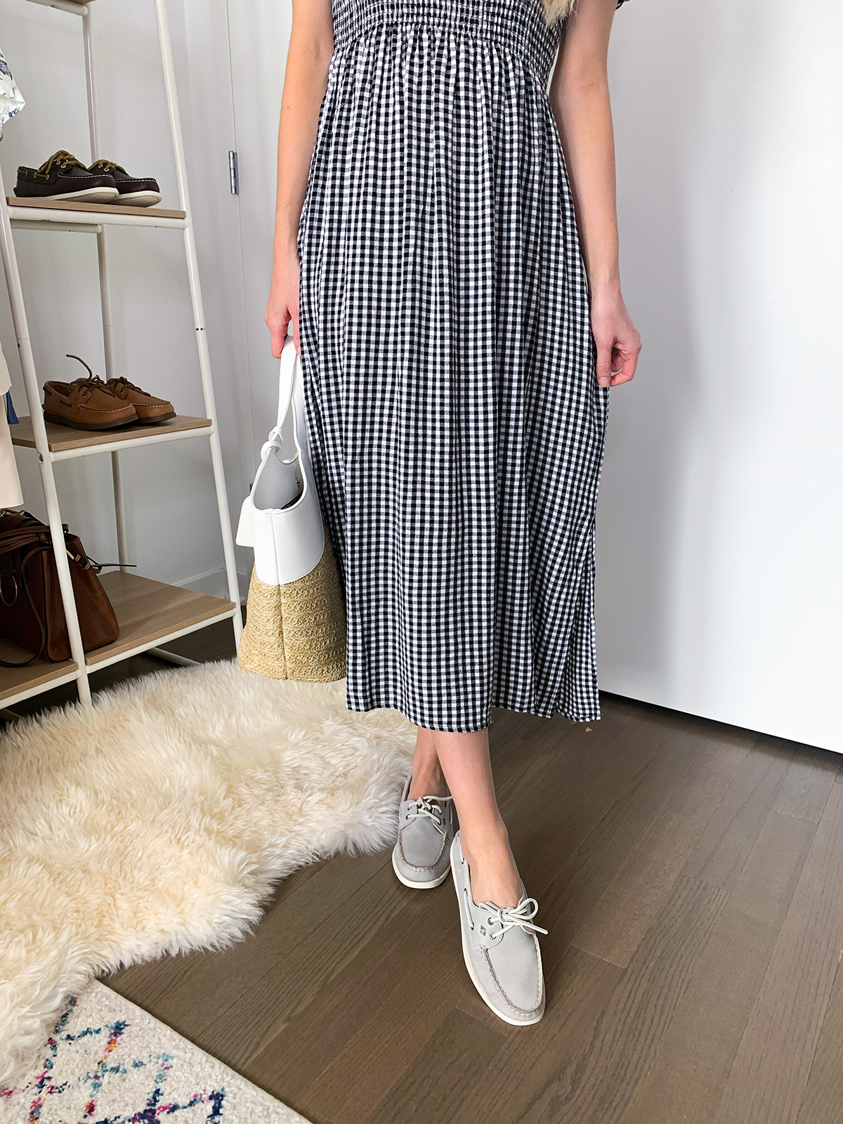 dress with boat shoes
