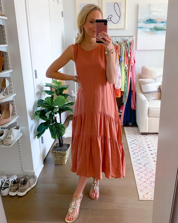 Anthropologie Marlene Tiered Maxi Dress