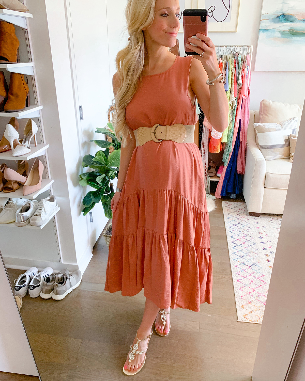 Anthropologie Marlene Tiered Maxi Dress