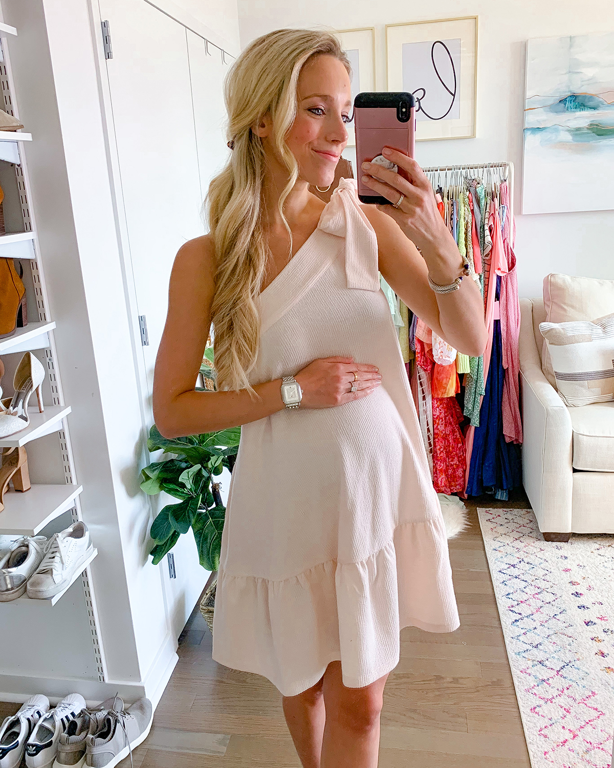 Free People Avery One Shoulder Mini Dress