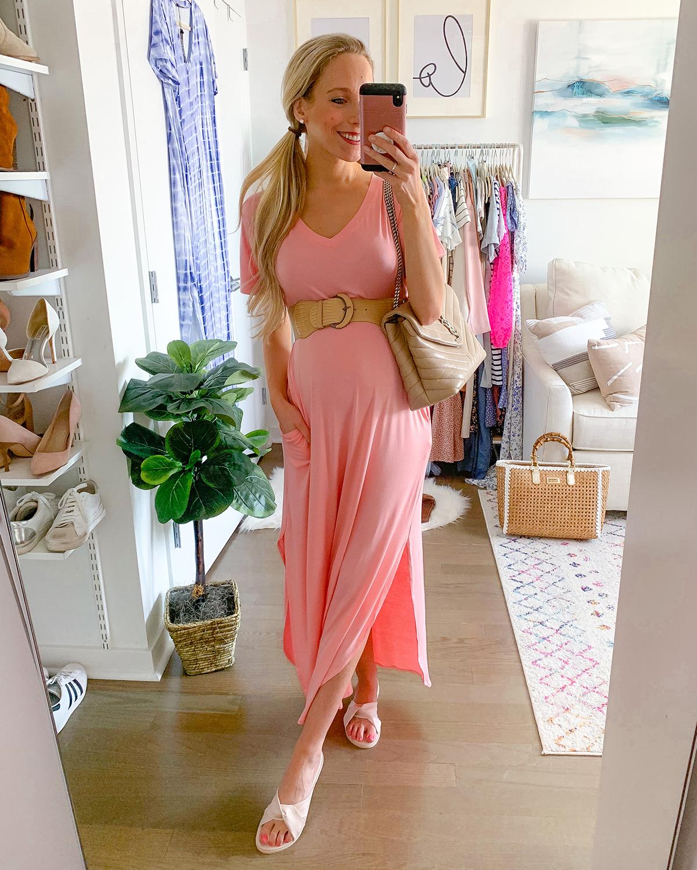 Pink Boho Maxi Dress