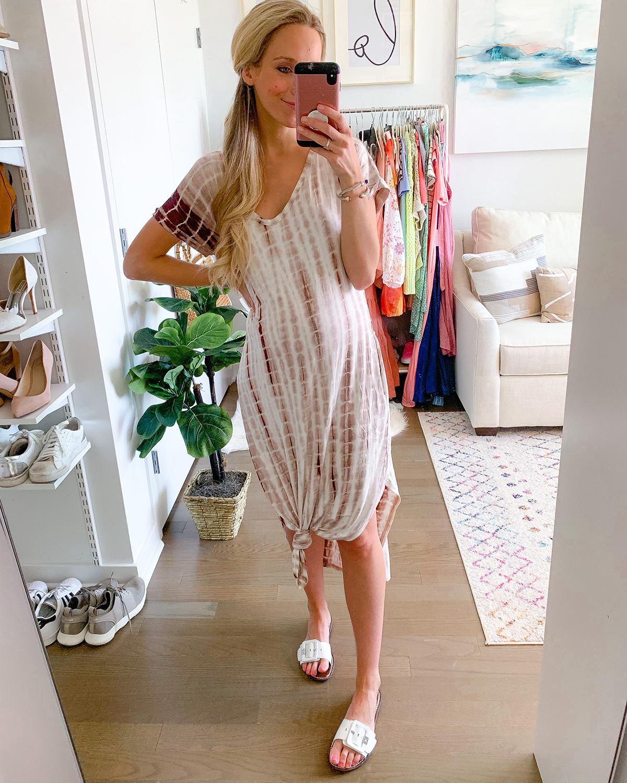 Tie-Dye Boho Maxi Dress