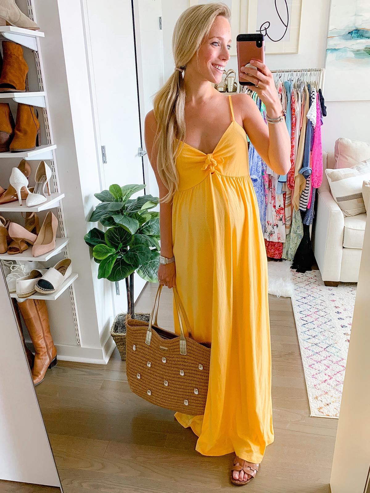 ASOS DESIGN cami bow front maxi sundress