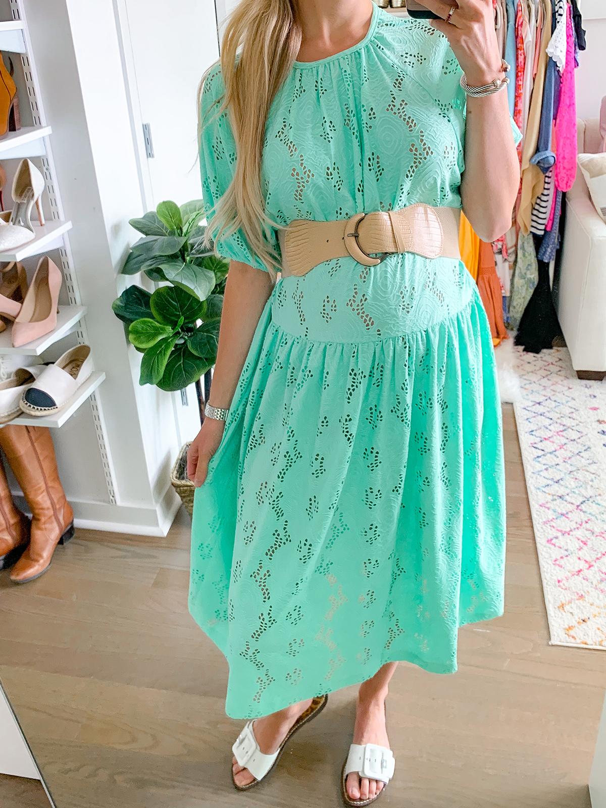 ASOS DESIGN smock midi dress in lace