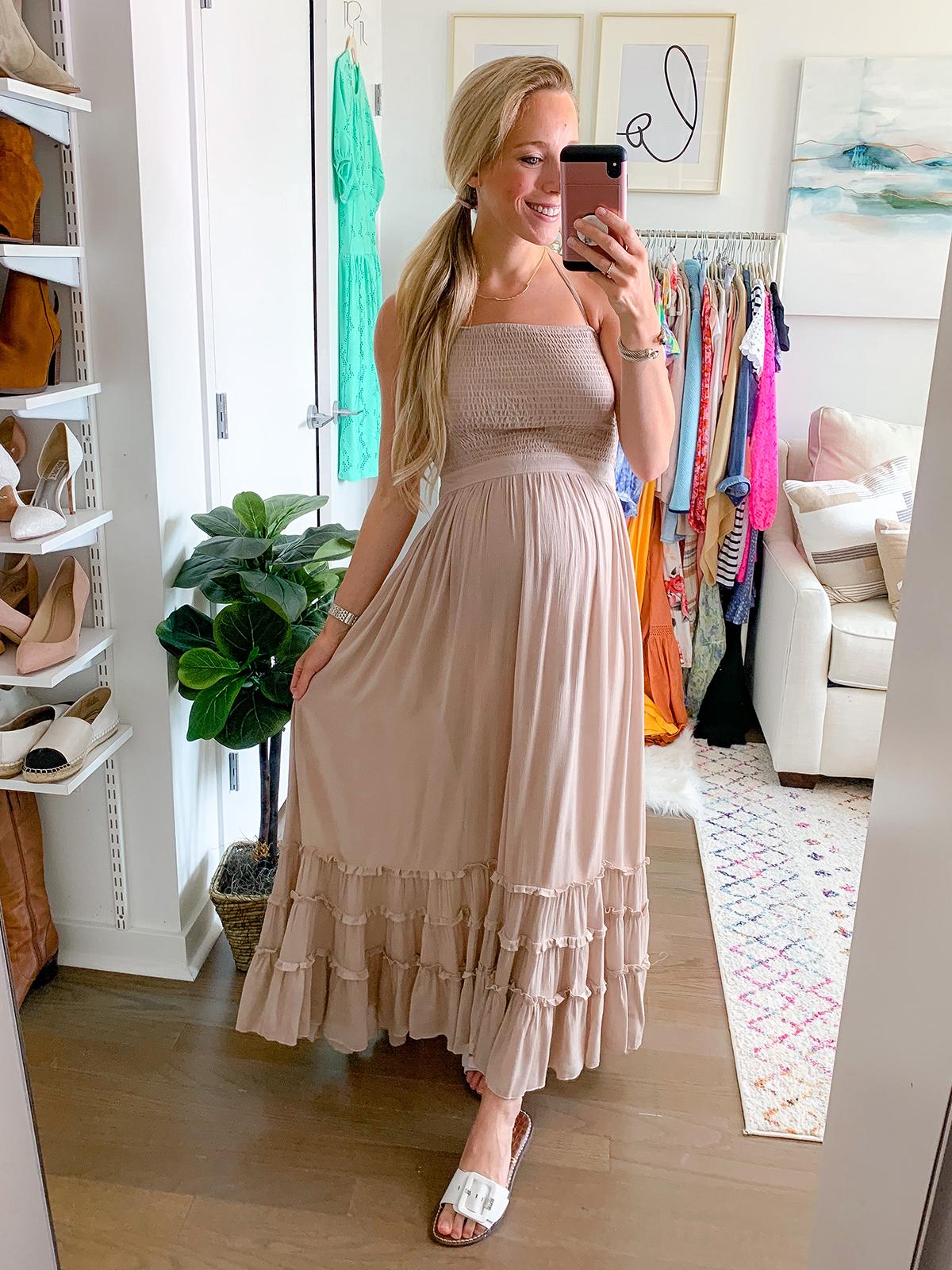 Blackless Tiered Maxi Dress