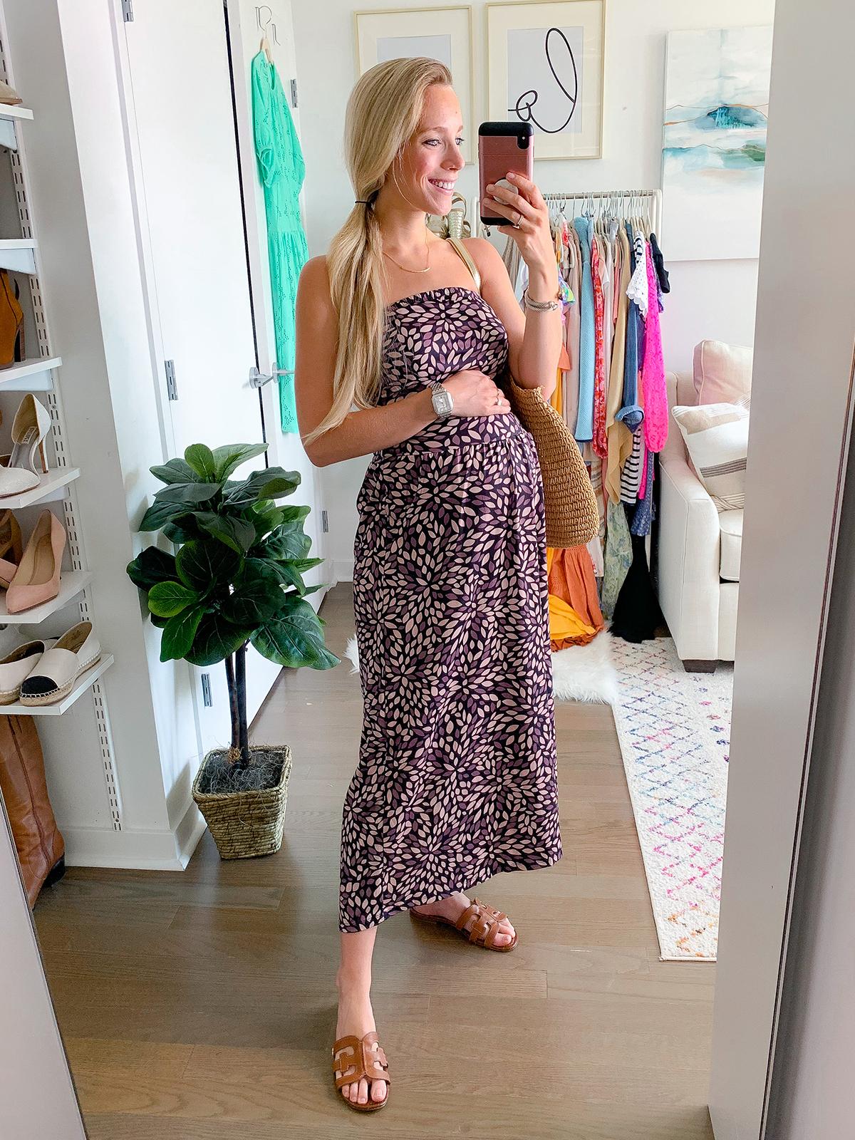 Strapless Boho Maxi Dress