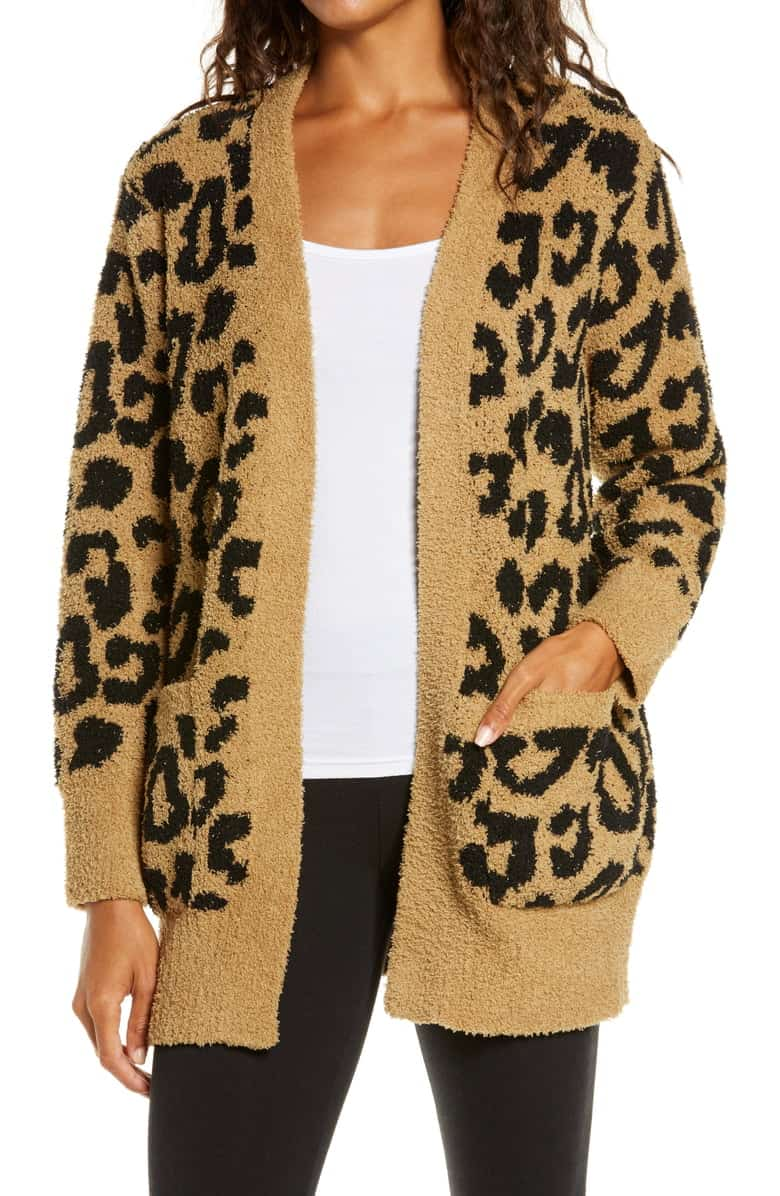 Barefoot Dreams CozyChic Leopard Cardigan
