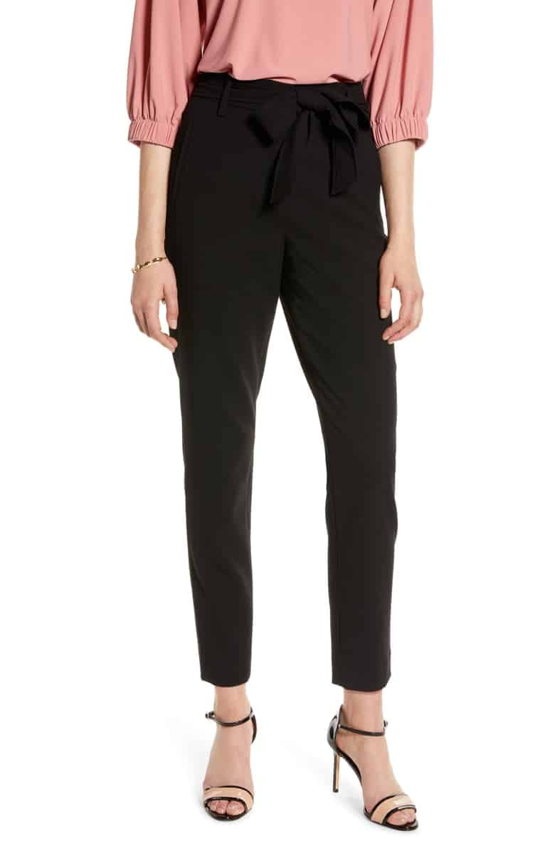 Halogen Tie Waist Twill Pants