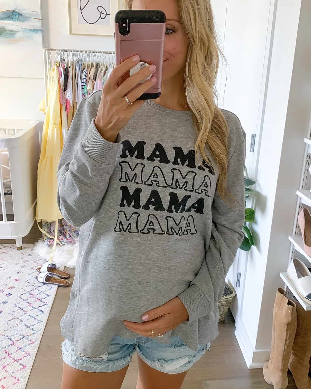 Maternity Mama Sweatshirt