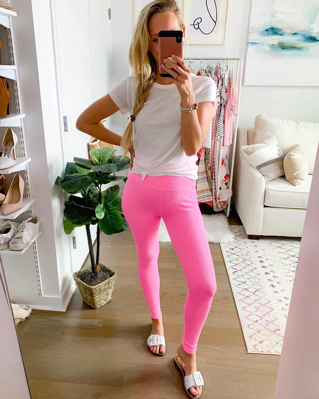 Pink High Waist Leggings