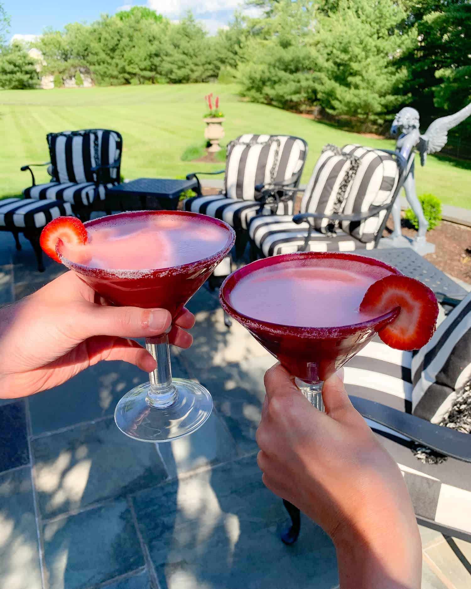 Strawberry Mint Margarita Mocktail Recipe