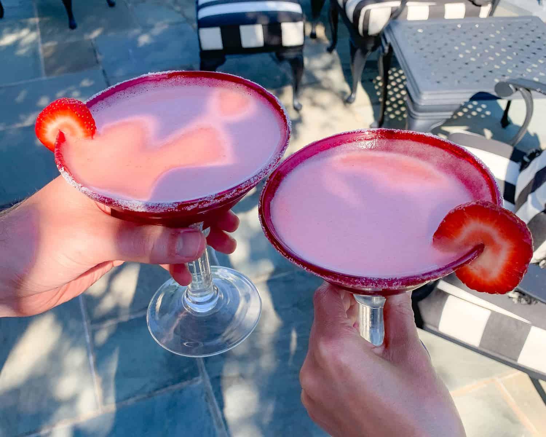 Strawberry Mint Margarita Mocktail Recipe