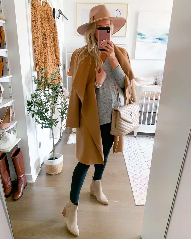 Cascade Collar Double Face Wool & Cashmere Coat