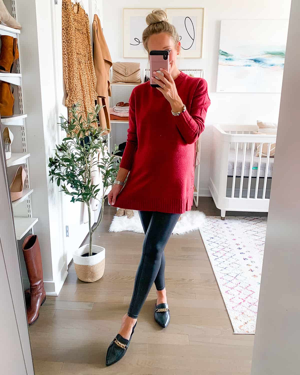 Caslon Side Snap Tunic Sweater