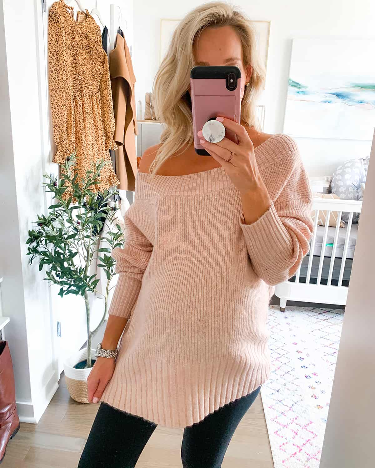 Chelsea28 Ribbed Off the Shoulder Sweater