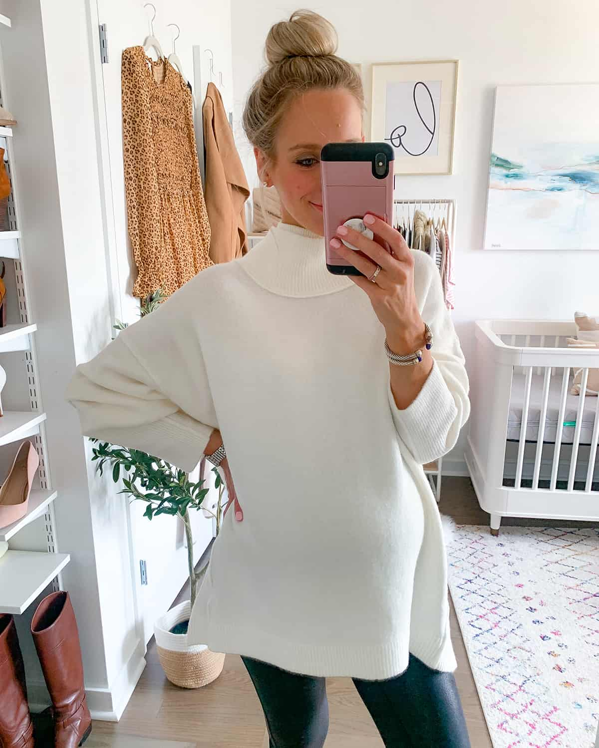 Free People Afterglow Mock Neck Top