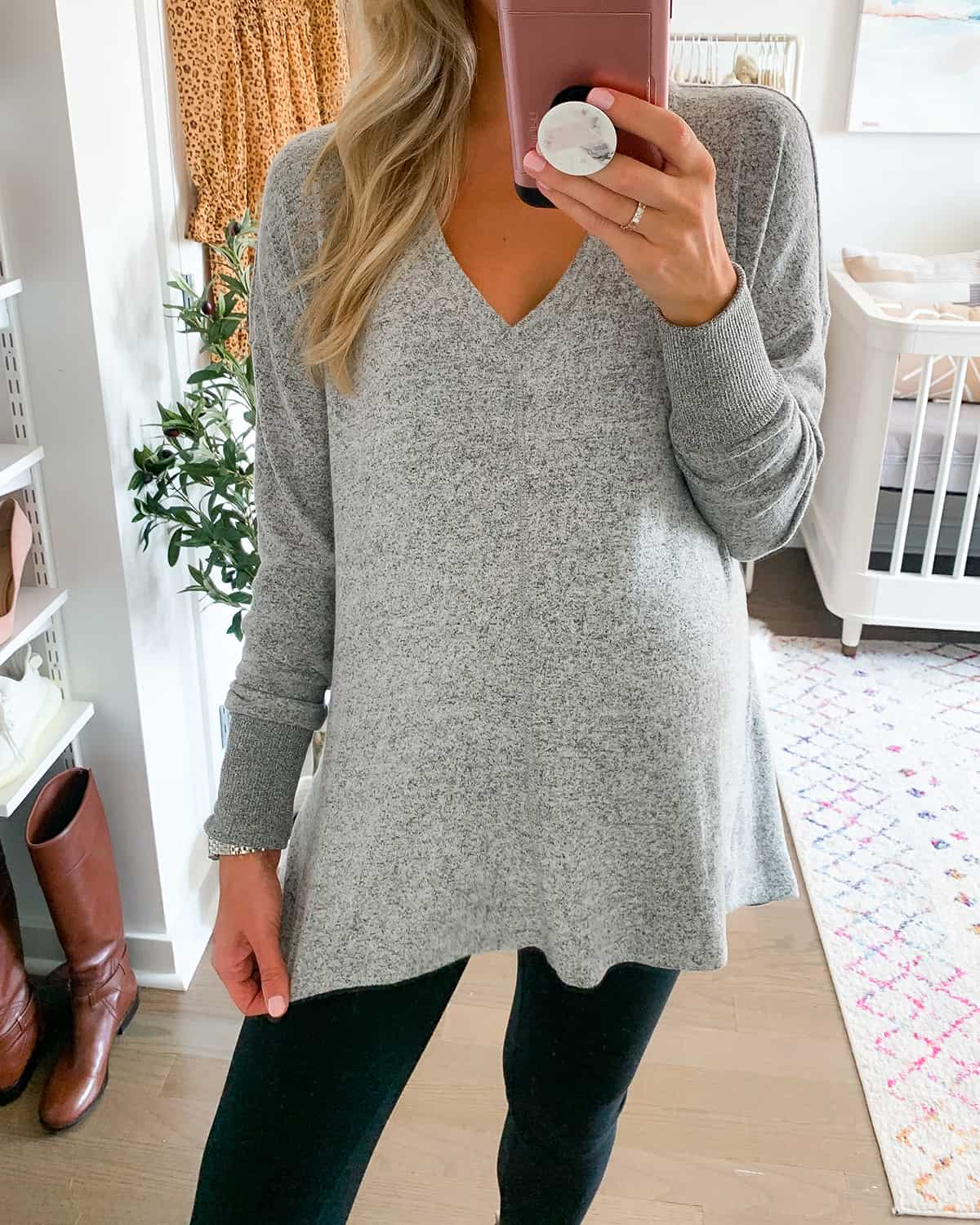 Gibson Cozy V-Neck Tunic