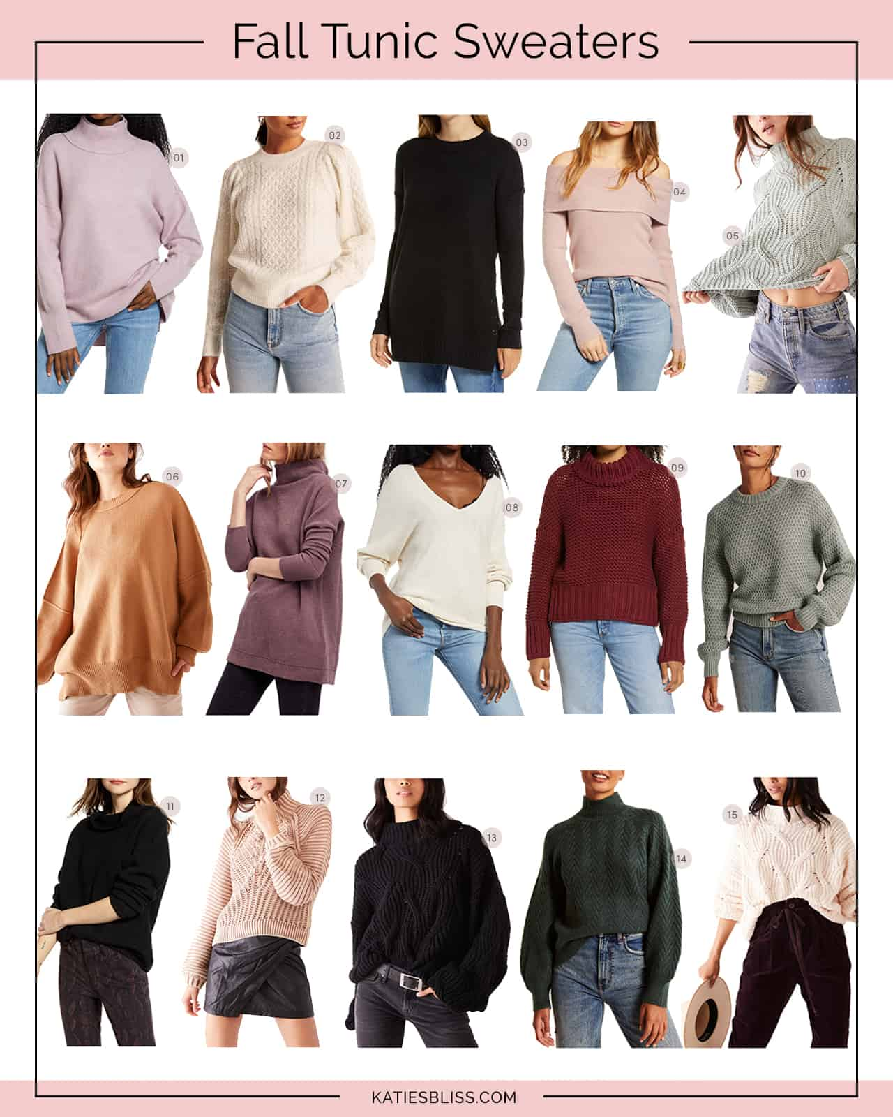 Katies Bliss Fall Tunic Sweaters