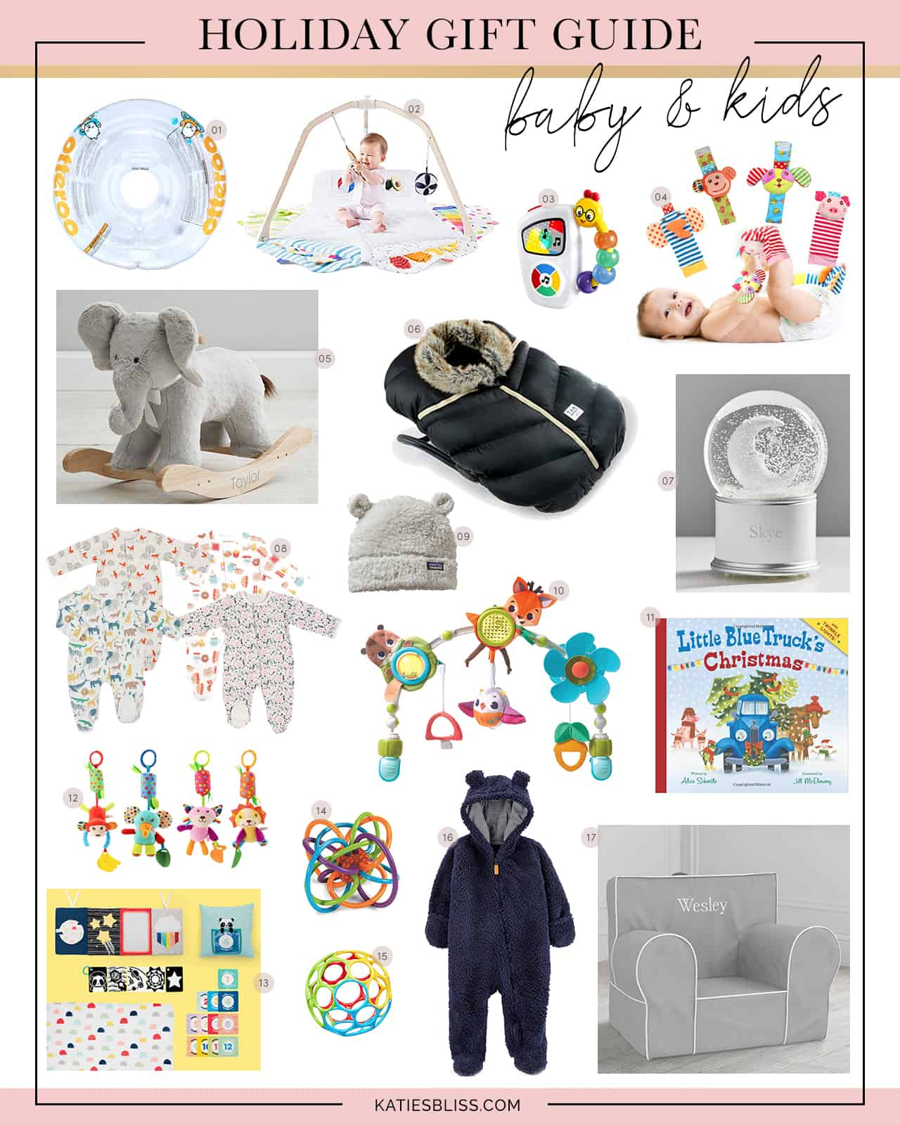 Katies Bliss Gift Guide for babies and kids