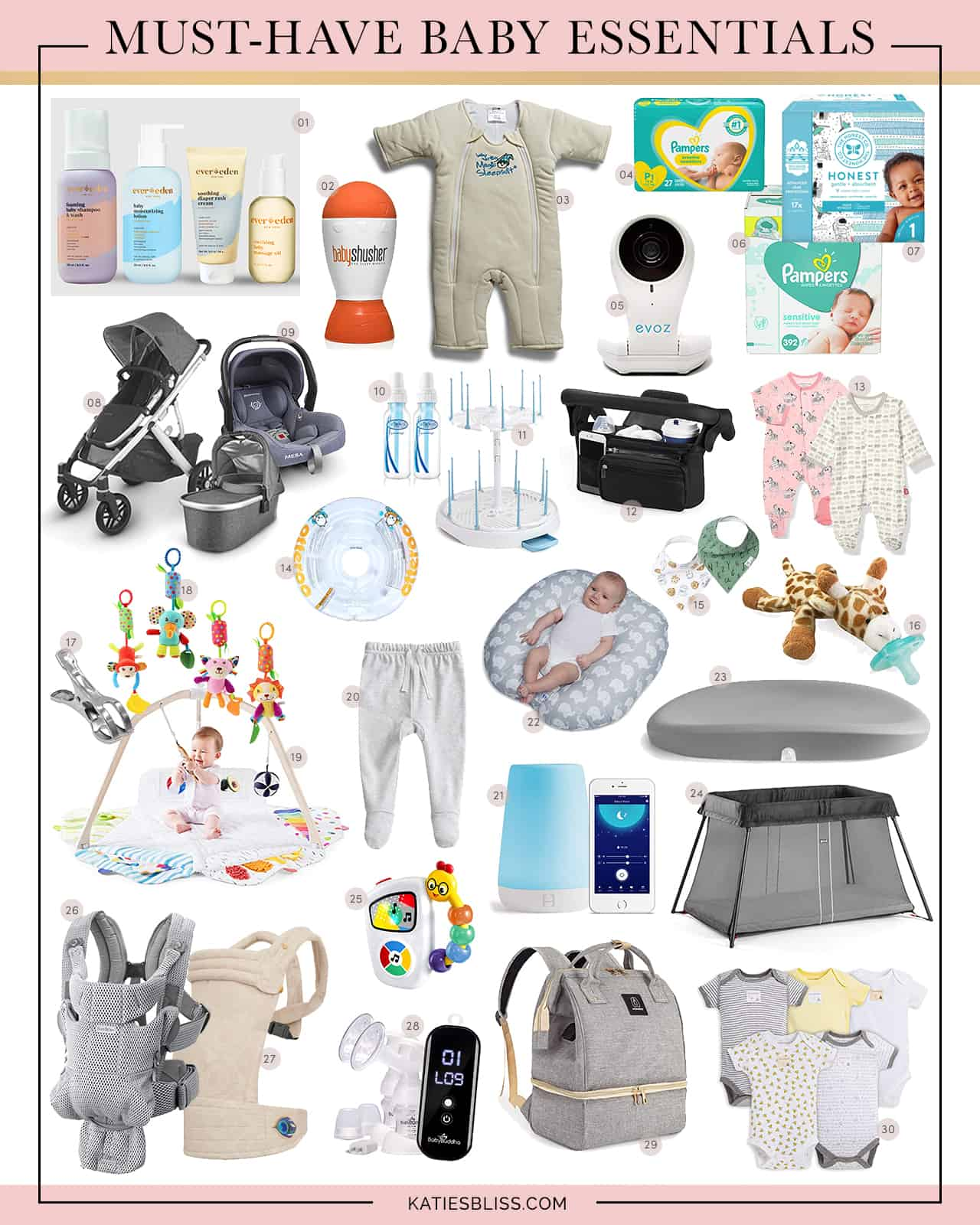 Katies Bliss Must-Have Baby Essentials