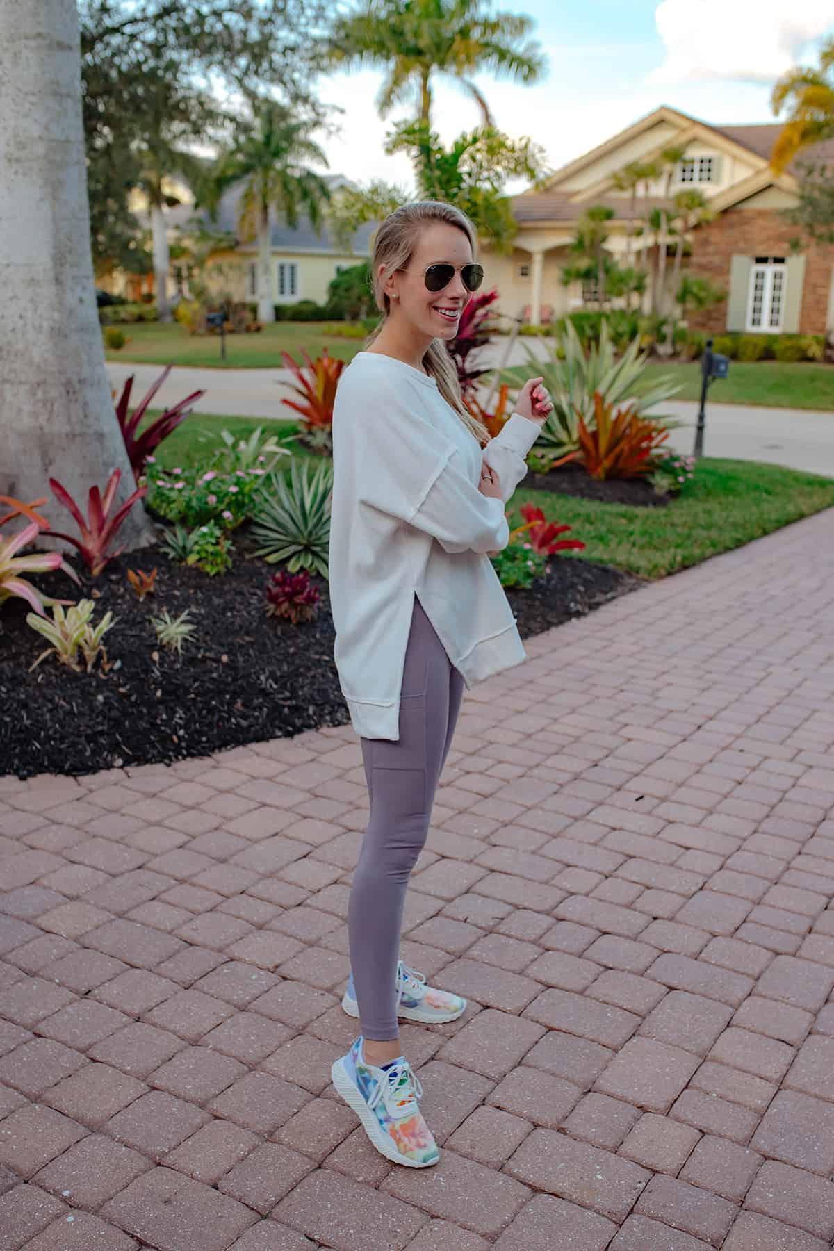 Lulus White Tunic Sweatshirt