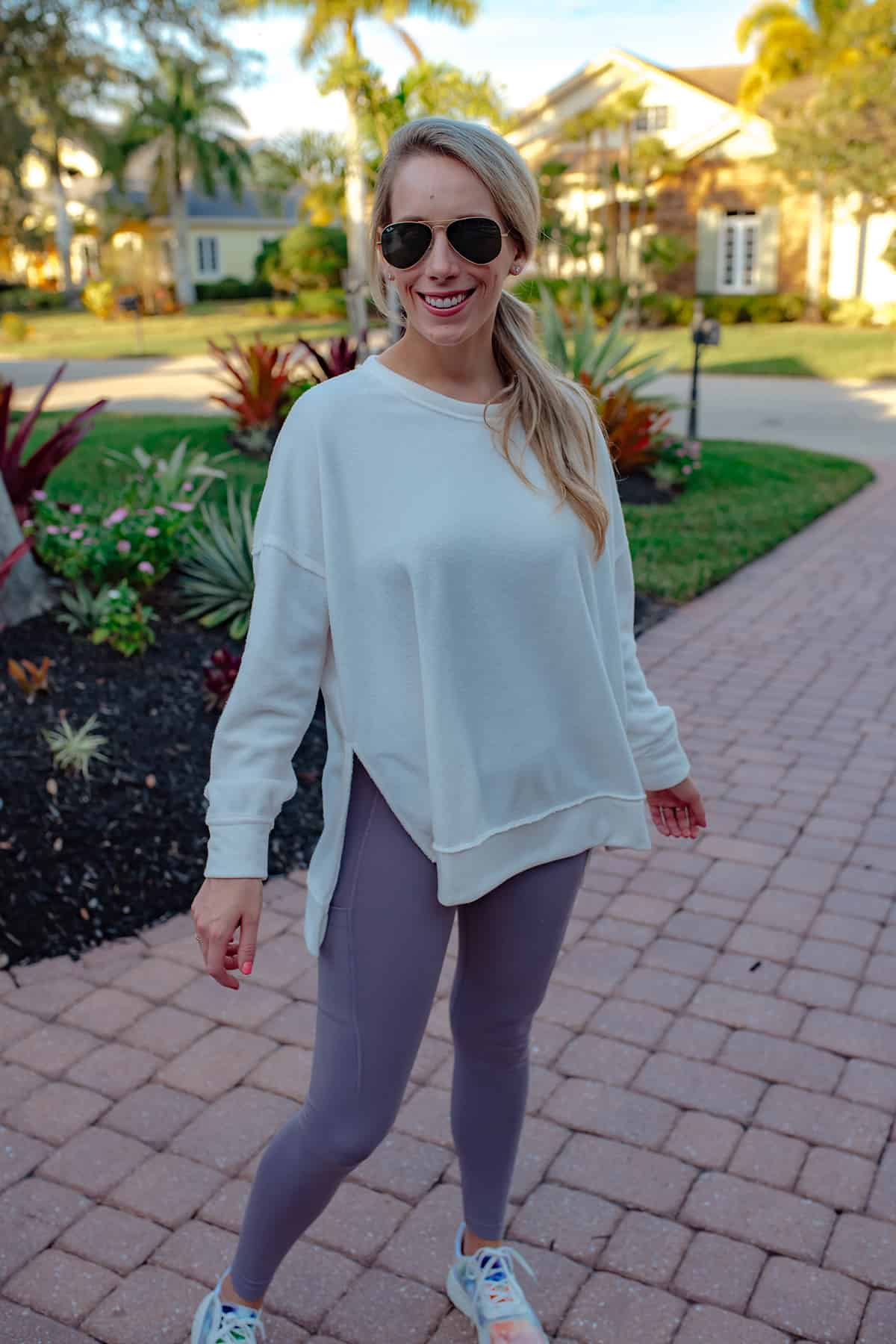Lulus White Tunic Sweatshirt