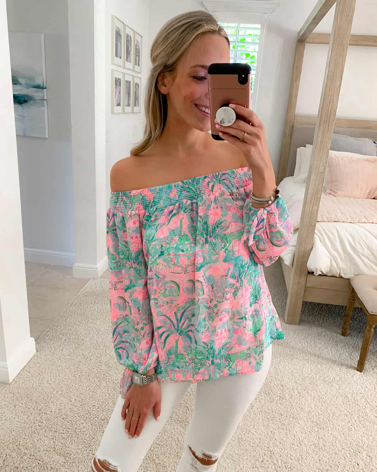 Lilly Pulitzer Maryellen Off-The-Shoulder Top