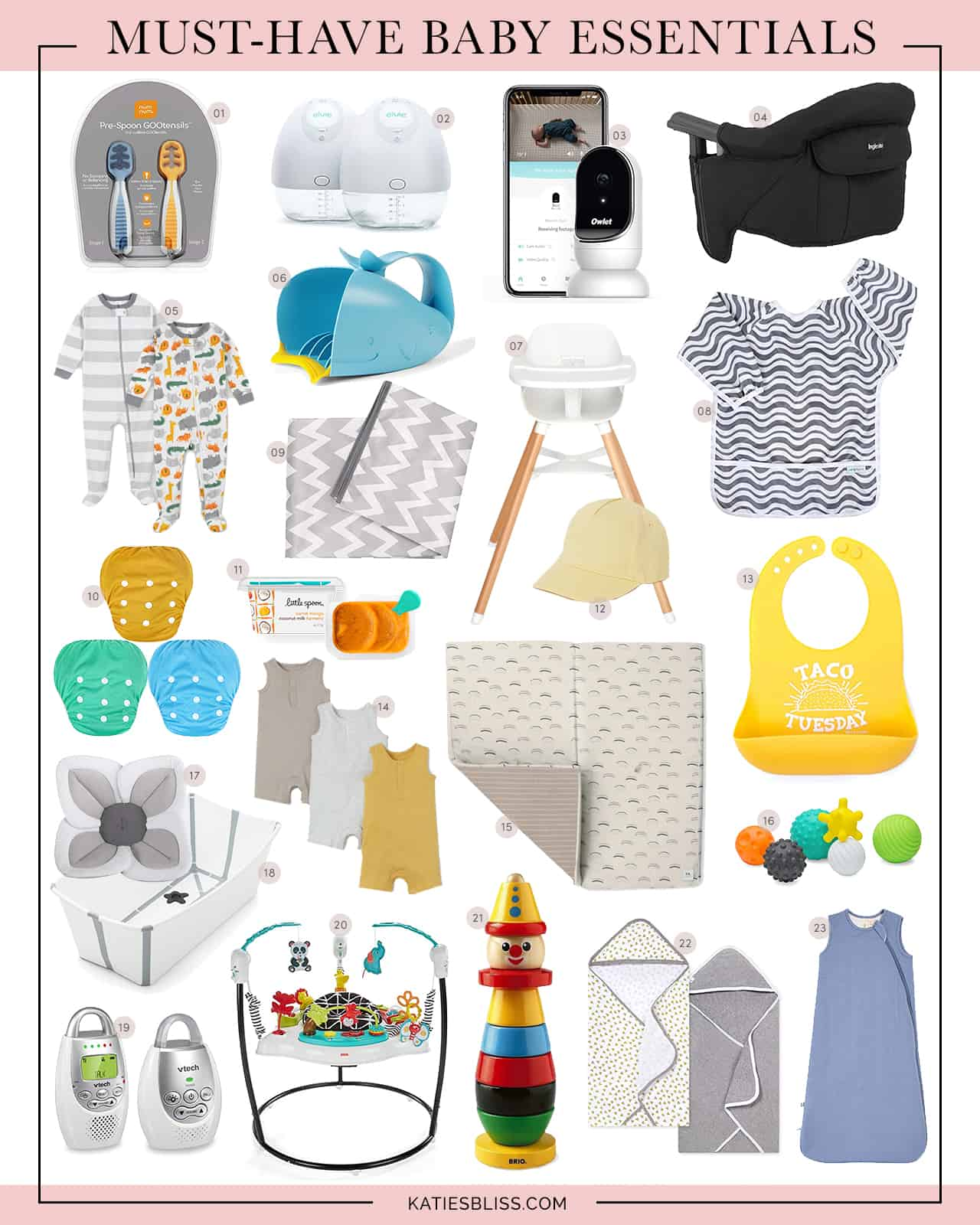 Katies Bliss Must Have Baby Essentials