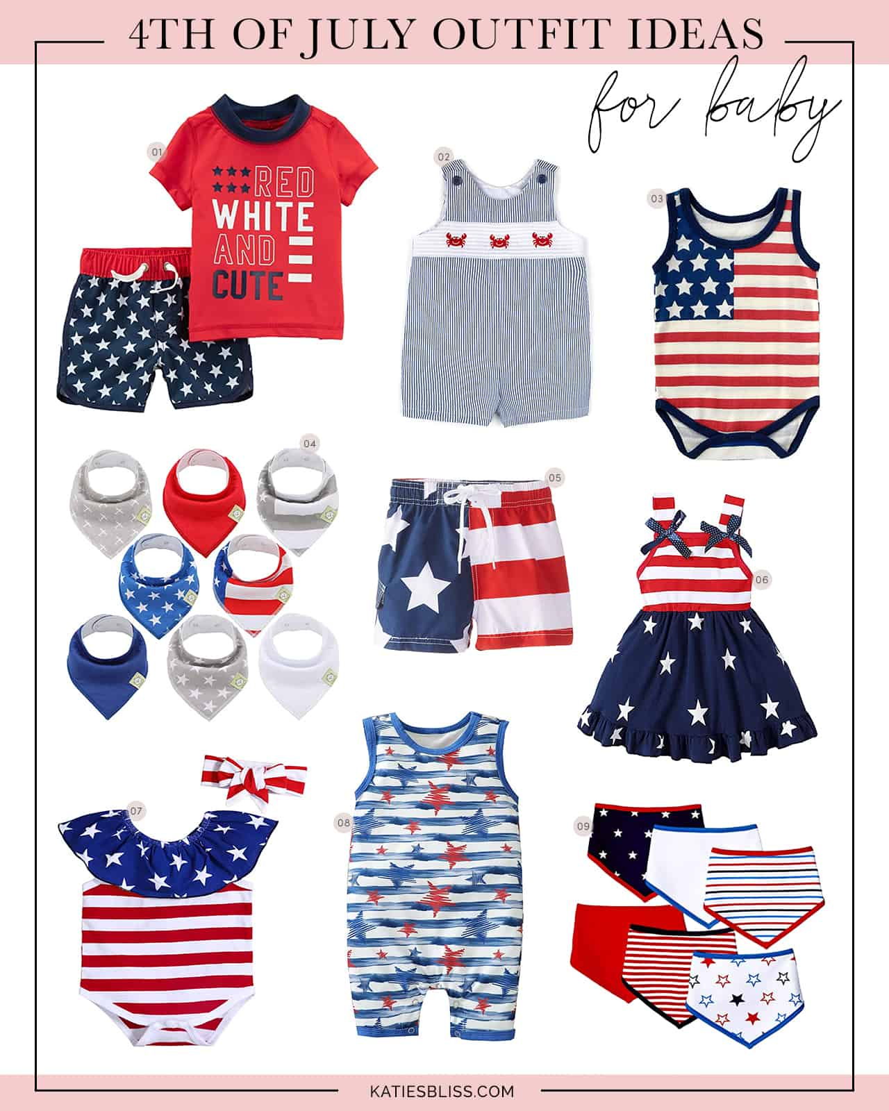 Katies Bliss July 4th Outfit Ideas for Baby
