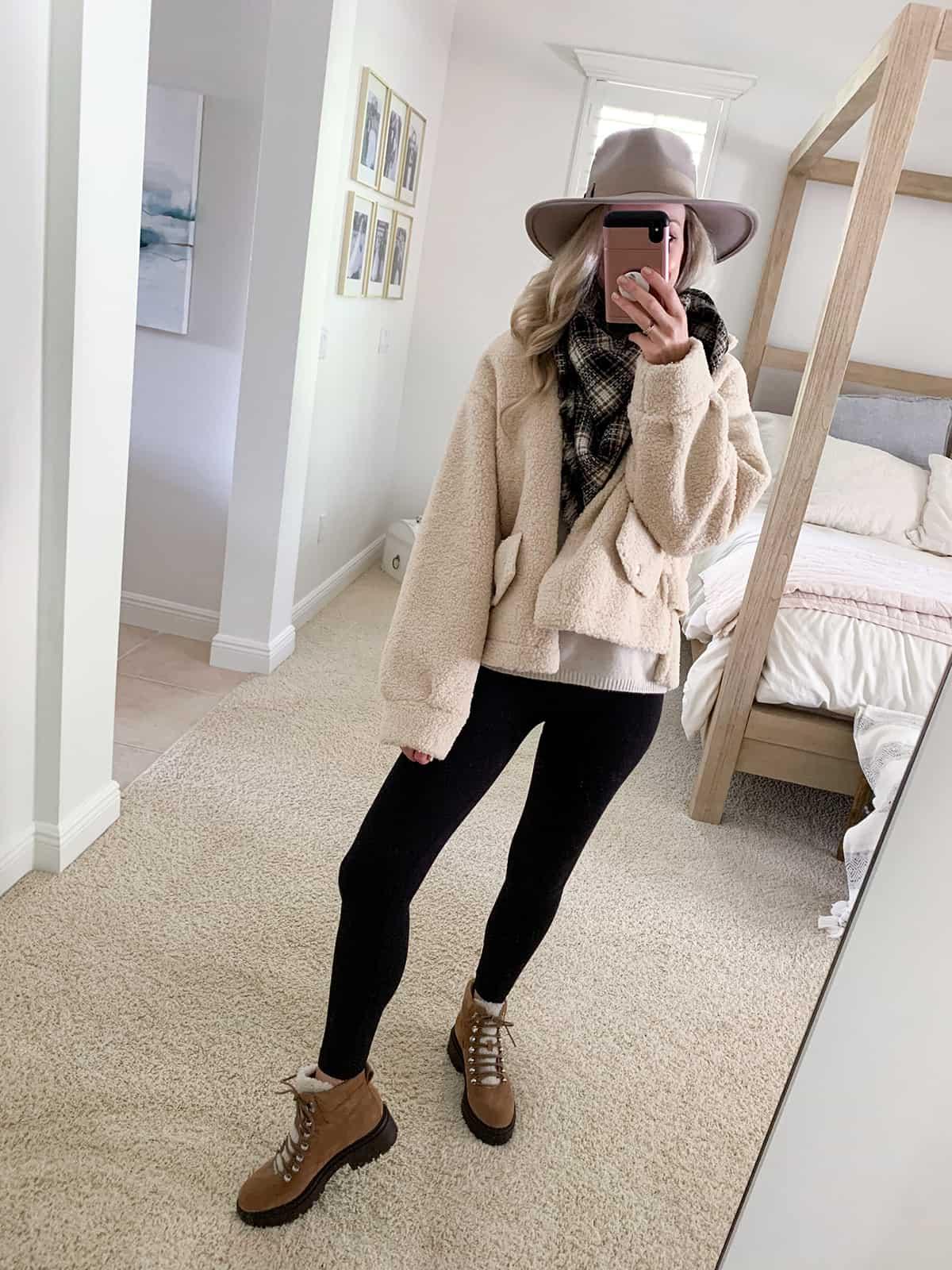 Katies Bliss BLANKNYC Bonded Faux Shearling Jacket