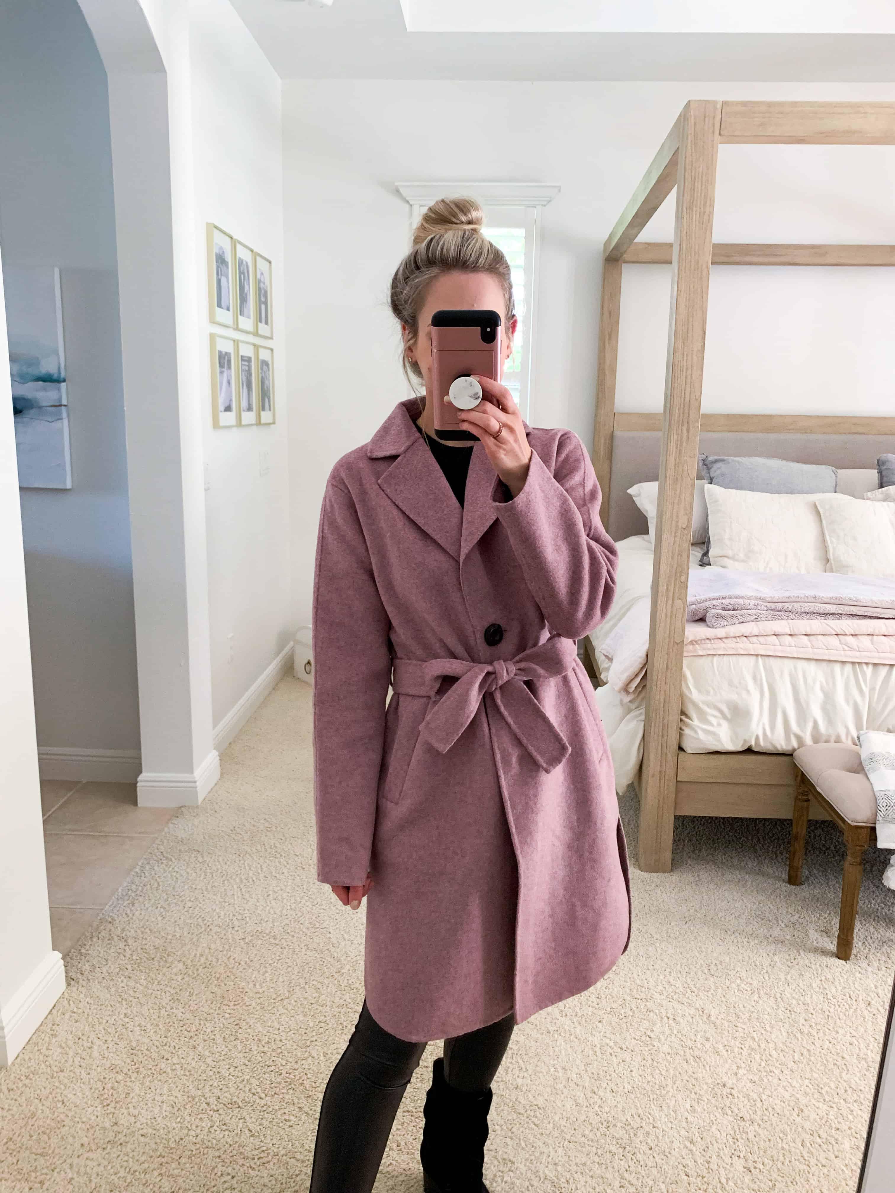 Katies Bliss Sam Edelman Belted Wool Blend Coat