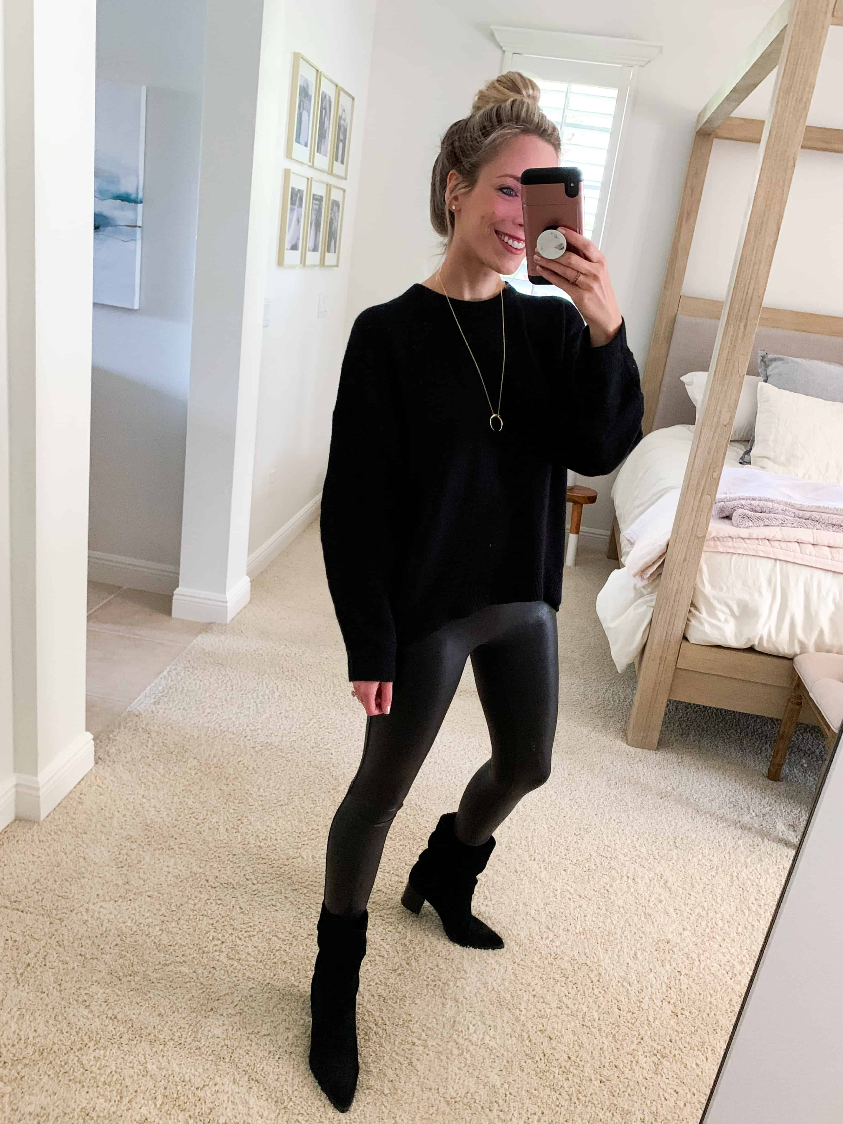 Katies Bliss Spanx Faux Leather Leggings